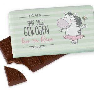 Premium Milchschokolade mit Spruch 100gr