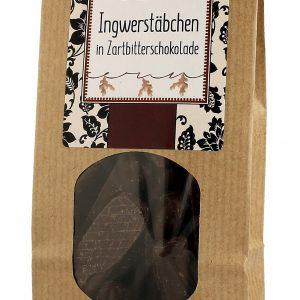 Ingwerstäbchen in Zartbitterschokolade 125g