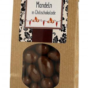 Mandeln in Chilli Schokolade 150g
