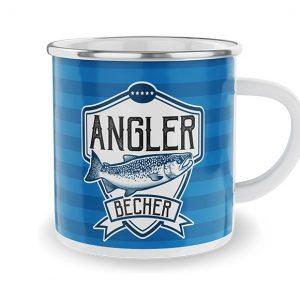 Emaille Becher-Angler