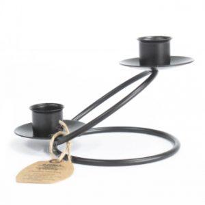 Metallhalter für Tafelkerzen modern