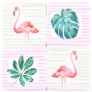 """Untersetzer aus Stein """"Flamingo"""""""