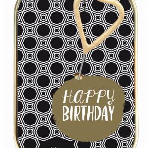 WonderCake Happy Birthday gold-black