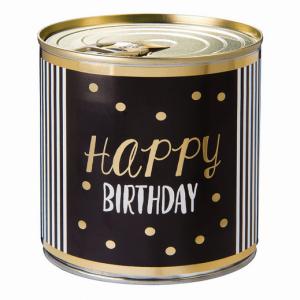 CanCake Happy Birthday gold-black (Brownie)