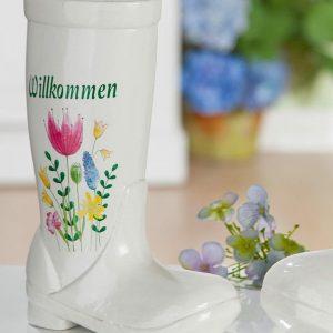 Keramik Vase-Gummistiefel