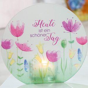 Glasteelicht-Blumenwiese 14cm