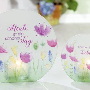 Glasteelicht-Blumenwiese 9,5cm
