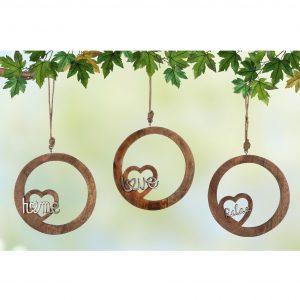 Mangoholz Hänger Love-Home-Relax