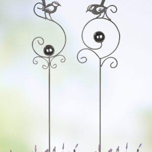 Gartenstecker Vogelbalz