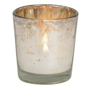 Votivkerzenglas Silber
