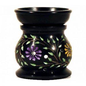 Speckstein Duftlampe mit Blumen