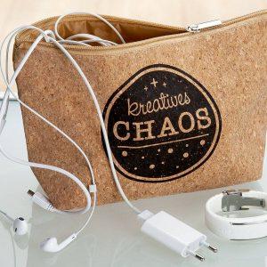 Kork Täschchen kreatives Chaos
