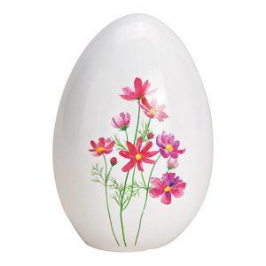 Ei mit Blumenmotiv aus Keramik