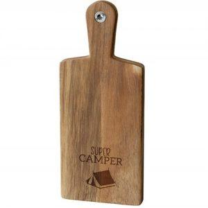 Holzbrett Camping