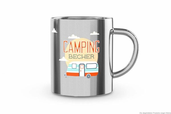 Edelstahlbecher Camping