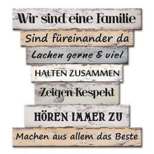 Wandbild Familienregeln