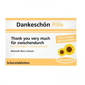 "Scherzpille ""Dankeschön"""
