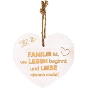 """Vintage Herz """"Familie ist…"""""""