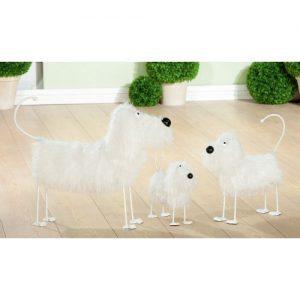 Metall Hund mit flausch Fell